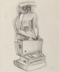 Henry Moore (1898-1986) Seated Figure, 1940 Pencil on paper 11 x 9-1/2 inches (27.9 x 24.1 cm) Signed lower right: