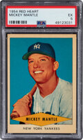 Baseball Cards:Singles (1950-1959), 1954 Red Heart Mickey Mantle PSA EX 5. ...
