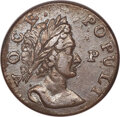 Colonials, 1760 1/2 P Hibernia-Voce Populi Halfpenny, P Before Face, MS61 Brown NGC. N. 12, Z. 15-N, W-13950, R.2....