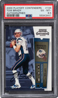 Football Cards:Singles (1970-Now), 2000 Playoff Contenders Rookie Ticket Tom Brady (Autographed) #144 PSA EX-MT+ 6.5. ...