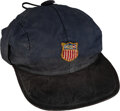 Olympic Collectibles:Autographs, 1956 Gene Campbell United States Winter Olympics Hat from The Gene Campbell Collection. ...