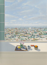 Larry Cohen (b. 1952) Still Life Against a Window, 1982 Oil on canvas 60 x 44 inches (152.4 x 111