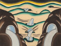 Paintings, Roger Brown (1941-1997). A Landscape in Celebration of Sex. Oil on canvas. 9-1/8 x 12-1/8 inches (23.2 x 30.8 cm). Title...