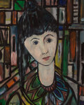 Paintings, Jose Maria Mijares (1921-2004). Mujer. Oil on board. 19-3/4 x 16 inches (50.2 x 40.6 cm). Signed in the lower left corne...