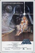 """Movie Posters:Science Fiction, Star Wars (20th Century Fox, 1977). Folded, Very Fine-. Fourth Printing One Sheet (27"""" X 41"""") Style A, Tom Jung Artwork. Sci..."""