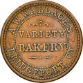 (1861-65) A.W. Wallace, Bakery, Civil War Store Card, Bridgeport, Connecticut, Fuld-35B-1a, R.1, AU53 NGC. Ex: Donald G...