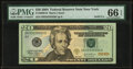 Solid Serial Number 55555555 Fr. 2089-B $20 2004 Federal Reserve Note. PMG Gem Uncirculated 66 EPQ