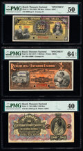 Brazil Thesouro Nacional Group of 5 Graded Examples