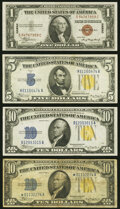 Fr. 2300 $1 1935A Hawaii Silver Certificate. About Uncirculated; Fr. 2307 $5 1934A North Africa Silver Certificate. Very...