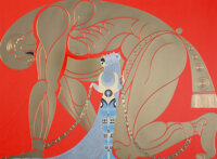 Erté (Romain de Tirtoff) (Russian/French, 1892-1990) Sampson and Delilah, 1980 Serigraph in colors o