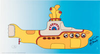 The Beatles Yellow Submarine Limited Edition Sericel Signed by Al Brodax (United Artists/Kin