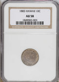 Coins of Hawaii: , 1883 10C Hawaii Ten Cents AU58 NGC. NGC Census: (28/87). PCGSPopulation (24/112). Mintage: 250,000. (#10979)...