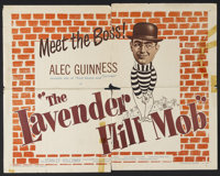 "The Lavender Hill Mob (Universal, 1951). Half Sheet (22"" X 28"") Style A. Crime Comedy. Starring Alec Guinness..."