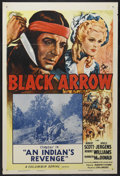 "Movie Posters:Serial, Black Arrow (Columbia, R-1955). One Sheet (27"" X 41"") Chapter 14 -- ""An Indian's Revenge."" Western. Starring Robert Scott, A..."