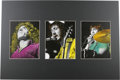 "Music Memorabilia:Photos, The Who Rare Concert Photo Illustrations. A set of three 8"" x 10""hand-tinted photos of Roger Daltrey, Pete Townshend, and K..."