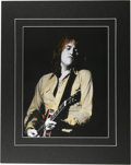 """Music Memorabilia:Photos, Alvin Lee Rare Concert Photo Illustration. An 11"""" x 14"""" hand-tinted photo of the Jaybirds guitarist, taken during a July 24,..."""