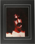 "Music Memorabilia:Photos, Frank Zappa Rare Concert Photo Illustration. An 11"" x 14""hand-tinted photo of the Rock and Roll innovator, taken during aM..."