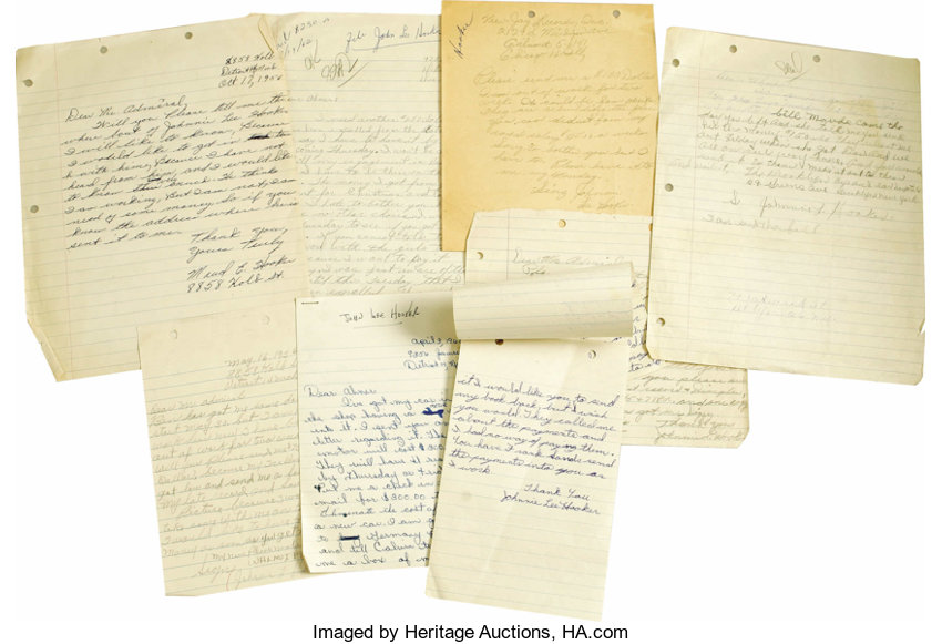 john lee hooker letters a series of eight letters dating lot