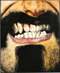 """Music Memorabilia:Original Art, Frank Zappa """"Everything Is Healing Nicely"""" Original Cover Painting. A disturbing 36.5"""" x 46.5"""" oil painting of Frank Zappa's mou..."""