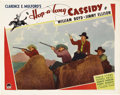 "Movie Posters:Western, Hop-a-long Cassidy (Paramount, 1935). Lobby Card (11"" X 14""). Onerarely finds a card from this first entry in the famed Hop..."