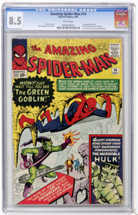 The Amazing Spider-Man #14 (Marvel, 1964) CGC VF+ 8.5 White pages