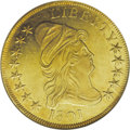 Early Eagles: , 1801 $10 MS62 NGC. Breen-6843, Taraszka-25, BD-2, R.2. One of twovarieties for the year. On the obverse, star 8 is near Li...