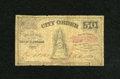 Obsoletes By State:Ohio, Cleveland, OH- City of Cleveland 50¢ Oct. 16, 1862. We'veencountered scrip from this issuer twice before, but this is thef...