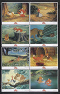 "Movie Posters:Animated, The Fox and the Hound (Buena Vista, 1981). Lobby Cards (8) (11"" X14""). Animated. Starring the voices of Mickey Rooney, Kurt...(Total: 8 Items)"