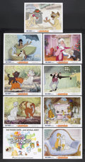 "Movie Posters:Animated, The Aristocats (Buena Vista, R-1970). Lobby Card Set of 9 (11"" X14""). Animated/Comedy. Starring the voices of Eva Gabor, Ph...(Total: 9 Items)"