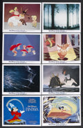 "Movie Posters:Animated, Fantasia (Buena Vista, R-1982). Lobby Card Set of 8 (11"" X 14""). Animated. Starring Walt Disney as the voice of Mickey Mouse... (Total: 8 Items)"
