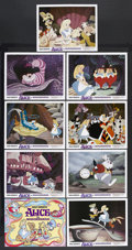 "Movie Posters:Animated, Alice in Wonderland (Buena Vista, R-1974). Lobby Card Set of 9 (11"" X 14""). Animated. Starring the voices of Kathryn Beaumon... (Total: 9 Items)"