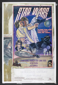 """Star Wars (20th Century Fox, 1977). Poster (40"""" X 60"""") Style D. George Lucas' sci-fi classic is beautifully re..."""