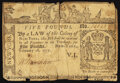 Colonial Notes:New York, New York February 16, 1771 £5 Very Good-Fine.. ...