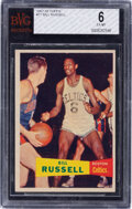 Basketball Cards:Singles (Pre-1970), 1957 Topps Bill Russell #77 BVG EX-MT 6....