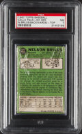 Baseball Cards:Unopened Packs/Display Boxes, 1967 Topps Baseball Cello Pack (5th Series) PSA NM 7 - Nelson Briles (Backwards) Top Card....