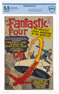 Fantastic Four #3 (Marvel, 1962) CBCS FN- 5.5 Cream to off-white pages