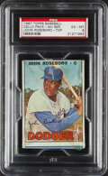 Baseball Cards:Unopened Packs/Display Boxes, 1967 Topps Baseball (4th Series) Cello Pack PSA EX-MT 6....