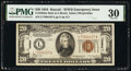 Small Size:World War II Emergency Notes, Fr. 2304 $20 1934 Mule Hawaii Federal Reserve Note. PMG Very Fine 30.. ...
