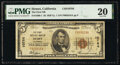 National Bank Notes:California, Hemet, CA - $5 1929 Ty. 1 The First National Bank Ch. # 10764 PMG Very Fine 20.. ...