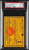 Football Collectibles:Tickets, 1937 Los Angeles Bulldogs vs. New York Yankees Complimentary Pass. ...