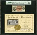Fractional Currency:Fourth Issue, Fr. 1301 25¢ Fourth Issue Courtesy Autograph PMG Choice Uncirculated 63 EPQ.. ...