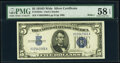 Fr. 1654 $5 1934D Wide I Silver Certificate. PMG Choice About Unc 58 EPQ