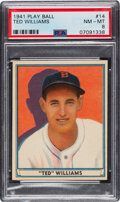Baseball Cards:Singles (1940-1949), 1941 Play Ball Ted Williams #14 PSA NM-MT 8....