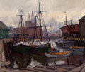 Paintings, Emile Albert Gruppe (American, 1896-1978). Italian Docks. Oil on canvas. 30 x 36 inches (76.2 x 91.4 cm). Signed lower r...