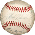 Baseball Collectibles:Balls, 1950 St. Louis Cardinals Team Signed Baseball with Letter from Dutch Leonard's Son. ...