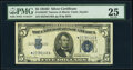 Small Size:Silver Certificates, Fr. 1654* $5 1934D Narrow Silver Certificate Star. PMG Very Fine 25.. ...