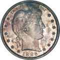 Barber Quarters, 1896-S 25C MS64 NGC....