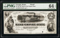Obsoletes By State:Georgia, Rome, GA- Bank of the Empire State $2 18__ Haxby Unlisted Proof PMG Choice Uncirculated 64 EPQ, POC.. ...