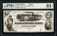Rome, GA- Bank of the Empire State $2 18__ Haxby Unlisted Proof PMG Choice Uncirculated 64 EPQ, POC