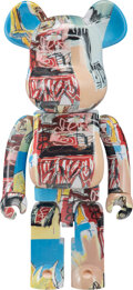 Collectible, BE@RBRICK X The Estate of Jean-Michel Basquiat. Jean-Michel Basquiat #6 1000%, 2020. Painted cast resin. 27-1/2 x 14 x 9...